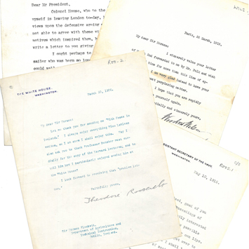 A selection of letters to Sir Horace Plunkett from various US Presidents.