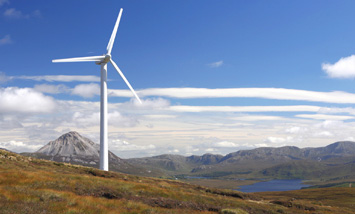 Wind turbine in rural Ireland